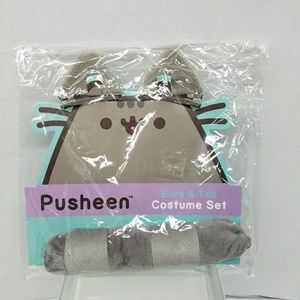 PUSHEEN 3 Piece Ear & Tail Costume Set